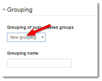 Under Grouping, select New grouping.