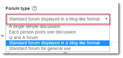 Select a Standard forum type.