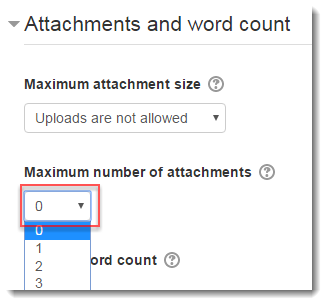 Select 0 for number of attachments.