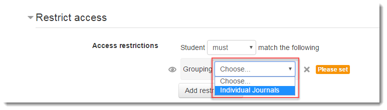Select the name of the grouping you created.