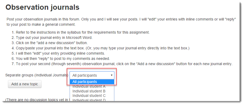 You can now navigate among the various students to interact with them.