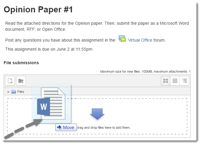 Drag and drop your document file.