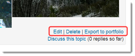 Click on Edit to make any changes to your post.