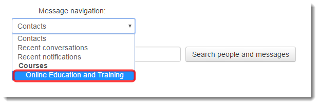 Select the name of the course where the person is enrolled.