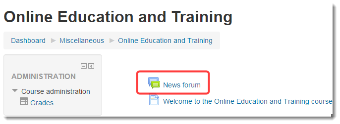 Click on the News forum.