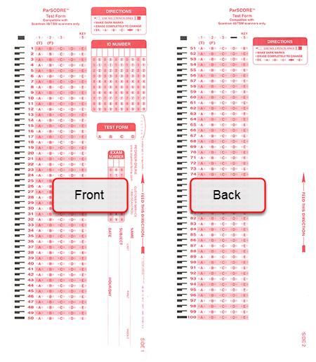 Scantron Form X-101864-PAR-L
