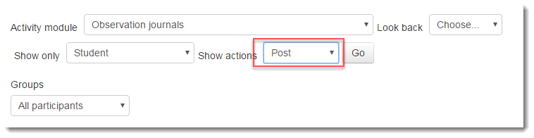 Select Post for the action.