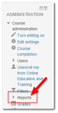 Click on Reports within the Administration block.