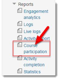 Click on Course participation.