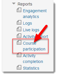 Click on Course participation.