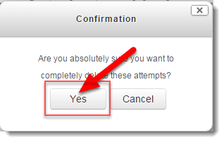 Click on Yes to confirm deletion.