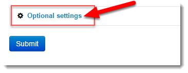 Click on Optional settings.