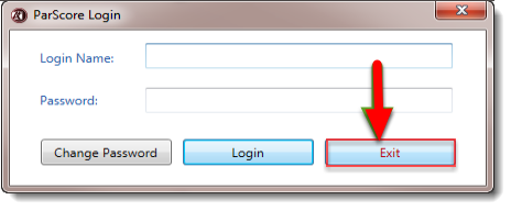 To logout of ParScore, click on Exit.