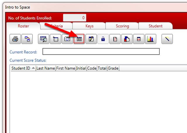Click the Add Score Column icon on the menu bar.