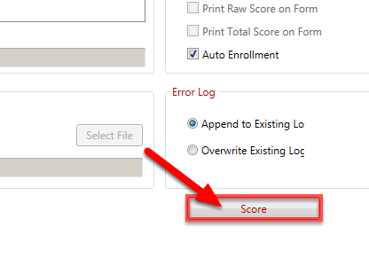 Click on the Score button.