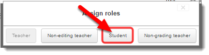 On the Roles menu click on Student.