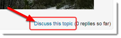 At the bottom of the post, click on Discuss this topic.
