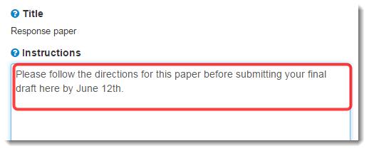 Type instructions.