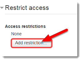 Click on Add restriction.