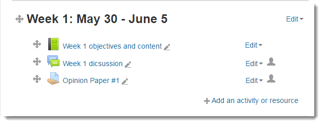 Scroll down to the Topic section you want to edit.