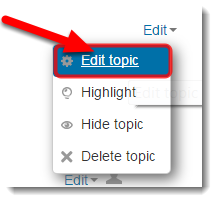 Click on Edit topic.