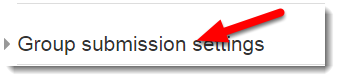 Scroll down to Group submission settings and expand.