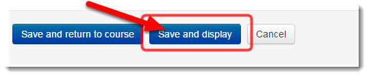 Click on Save and display.