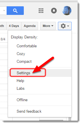 Click on Settings.