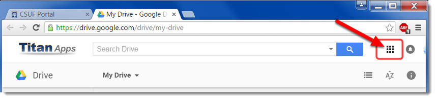 Click on the Google Apps menu.