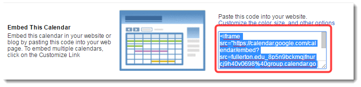 Select and copy the embed code.