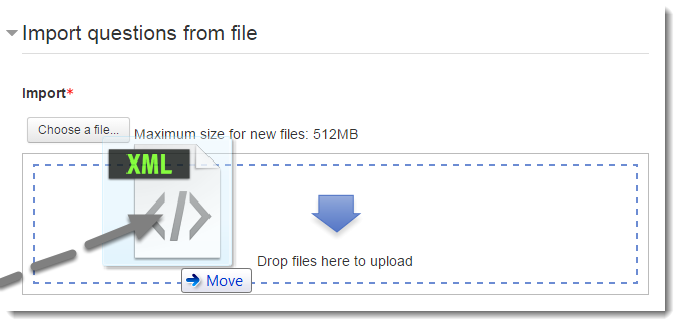 Drag your file from your computer to the upload box.