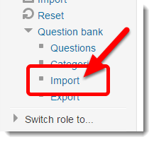 Click on Import.