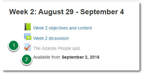 However, if the title of the quiz is light grey in color, then you cannot click on the link.