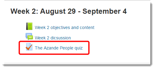 Scroll down the page to the link for the quiz.