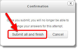 Click on Submit all and finish in the Confirmation window.