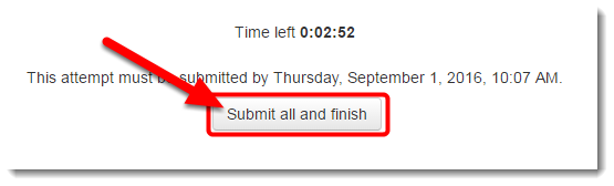When you are finished, click on Submit all and finish.
