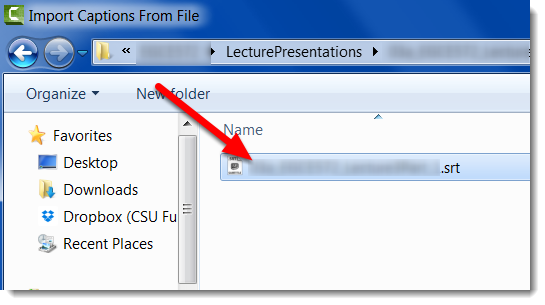 Double-click on the file name.