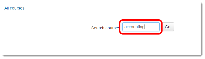 To search for a given community, type keywords or the title of the community in the Search field