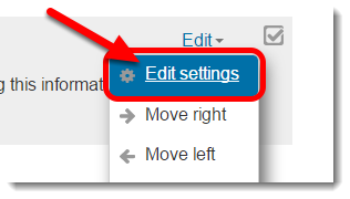 Click on Edit settings.
