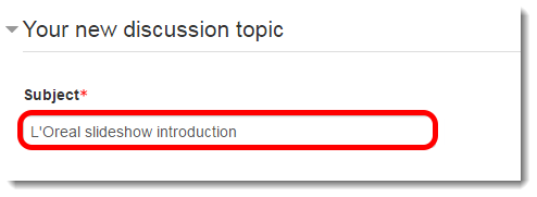 Type a Subject title.