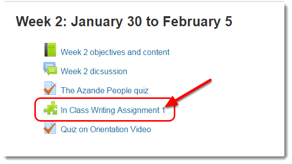 Enter your course and click on the Turnitin assignment link.