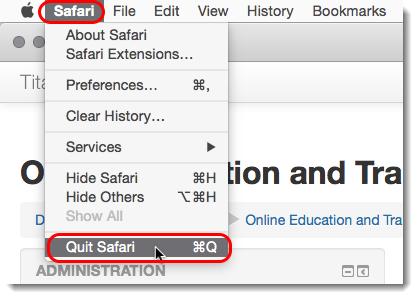 Quit Safari.
