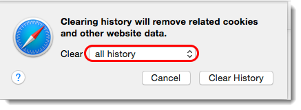 Select 'all history'.