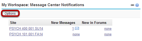 Customize message center display. (Optional)