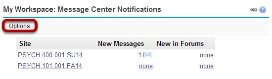 Customize message center display. (Optional)