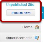 Unpublished Site Indicator
