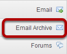 To access this tool, select Email Archive from the Tool Menu in your site.
