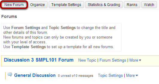 Click New Forum.
