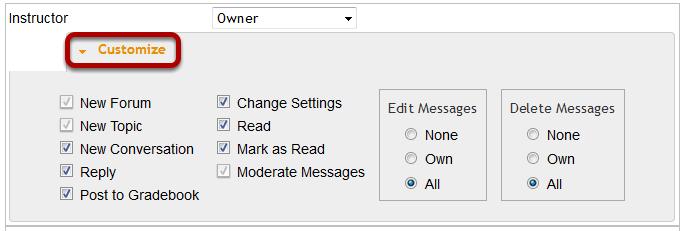 Customize settings.