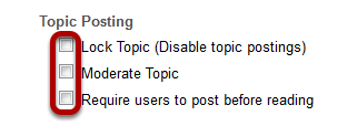 Select from topic posting options.